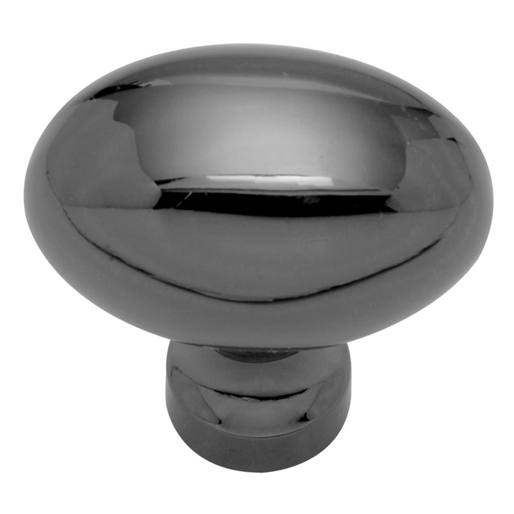 Keeler P9176-BLN 1-3/8 In. Black Nickel Generic Solid Brass Oval Cabinet Knob