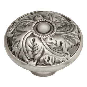 Keeler D26-9309 Acanthus  Collection Knob 1-1/4 Inch Diameter Antique Nickel Finish