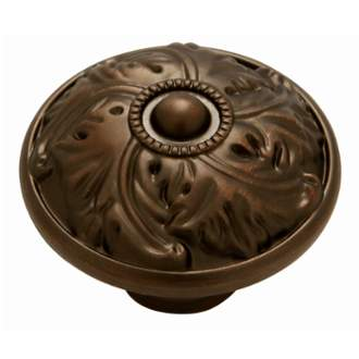 Keeler D26-RB Acanthus  Collection Knob 1-1/4 Inch Diameter Refined Bronze Finish