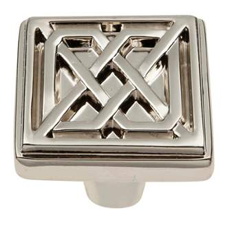 Keeler KB73836-14 Celtic Collection Square Knob 1-1/4 Inch Polished Nickel Finish