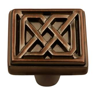 Keeler KB73836-RB Celtic Collection Square Knob 1-1/4 Inch Refined Bronze Finish