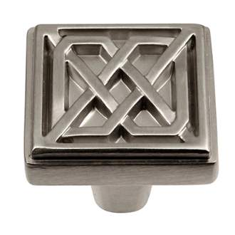 Keeler KB73836-SS Celtic Collection Square Knob 1-1/4 Inch Stainless Steel Finish