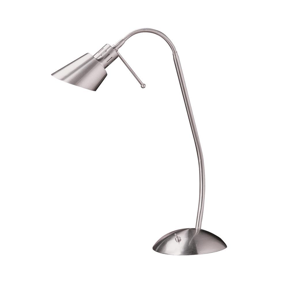 Kendal Lighting PTL4048-SN OSLO series 18 in. Satin Nickel Halogen Task Lamp