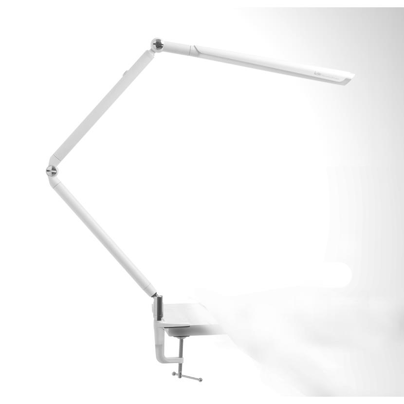 Kendal Lighting PTL4081-WH OVO series 20 in. White LED Task Lamp with Clamp