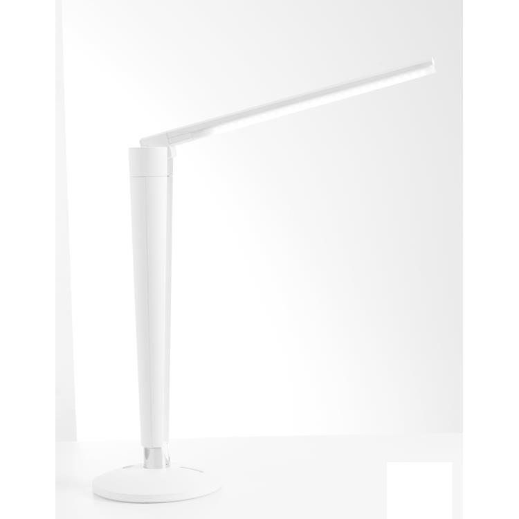 Kendal Lighting PTL4082-WH RIO series 20 in. White LED Task Lamp with Folding feature