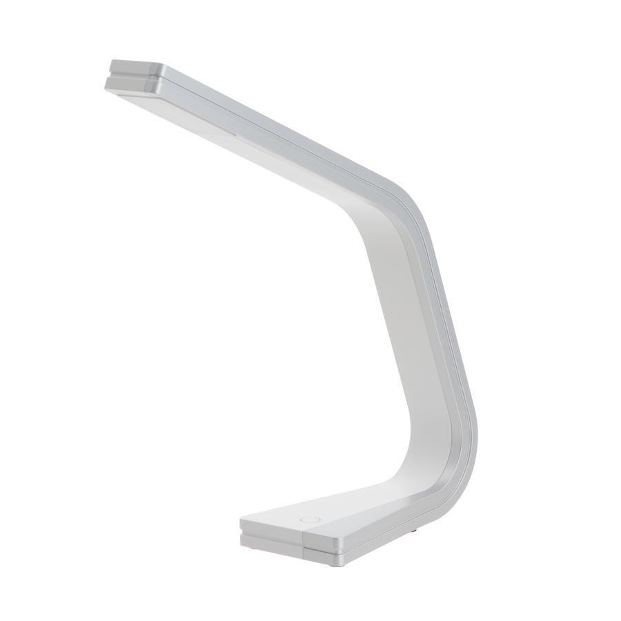 Kendal Lighting PTL4084-SV/WH ZIG series 12 in. Silver & White LED Task Lamp