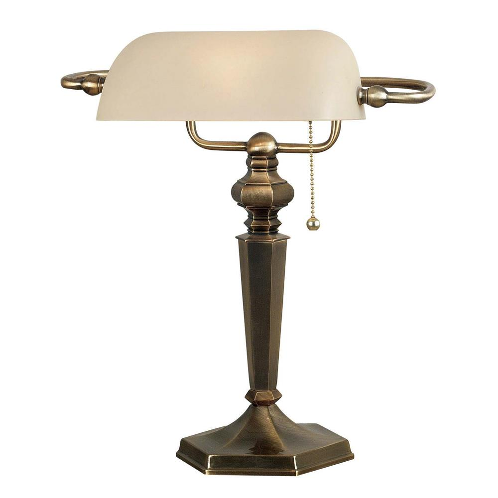 Kenroy Home 20615GBRZ Mackinley Banker Lamp in Georgetown Bronze Finish