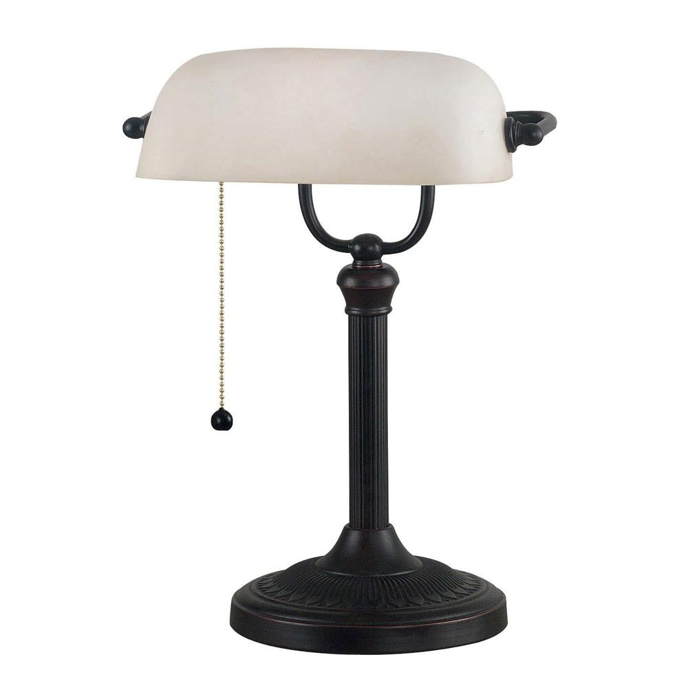 Kenroy Home 21394ORB Amherst Banker Lamp in Oil Rubbed Bronze Finish