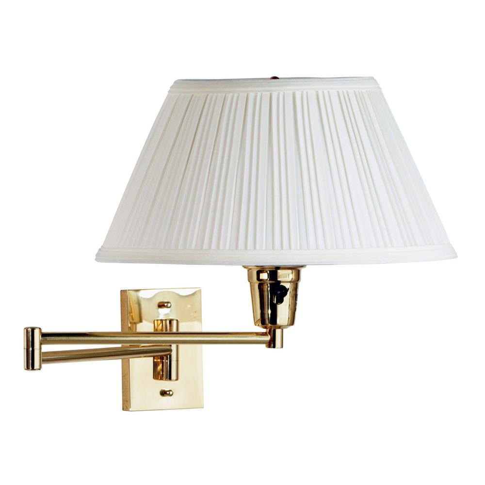 Kenroy Home 30100PBES-1 Element Wall Swing Arm Lamp in Polished Brass Finish