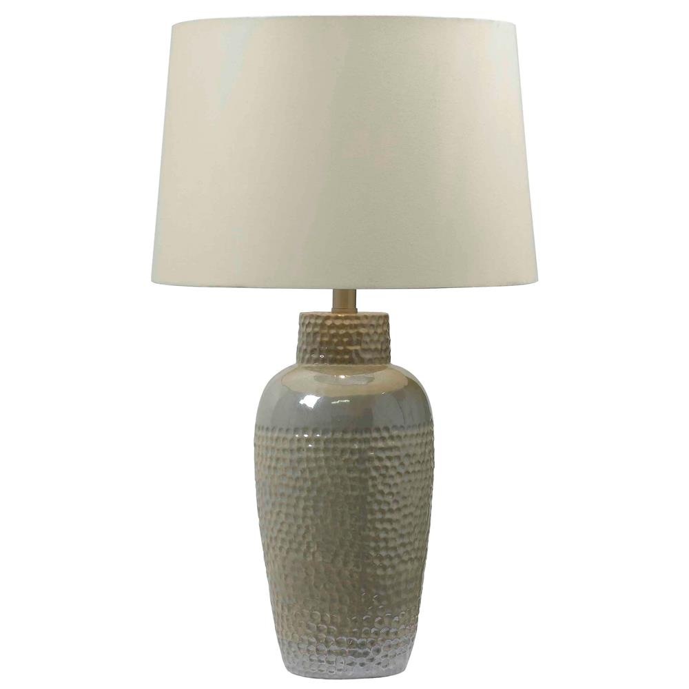 Kenroy Home 32107IRD Facade Table Lamp in Iridescent Ceramic Finish