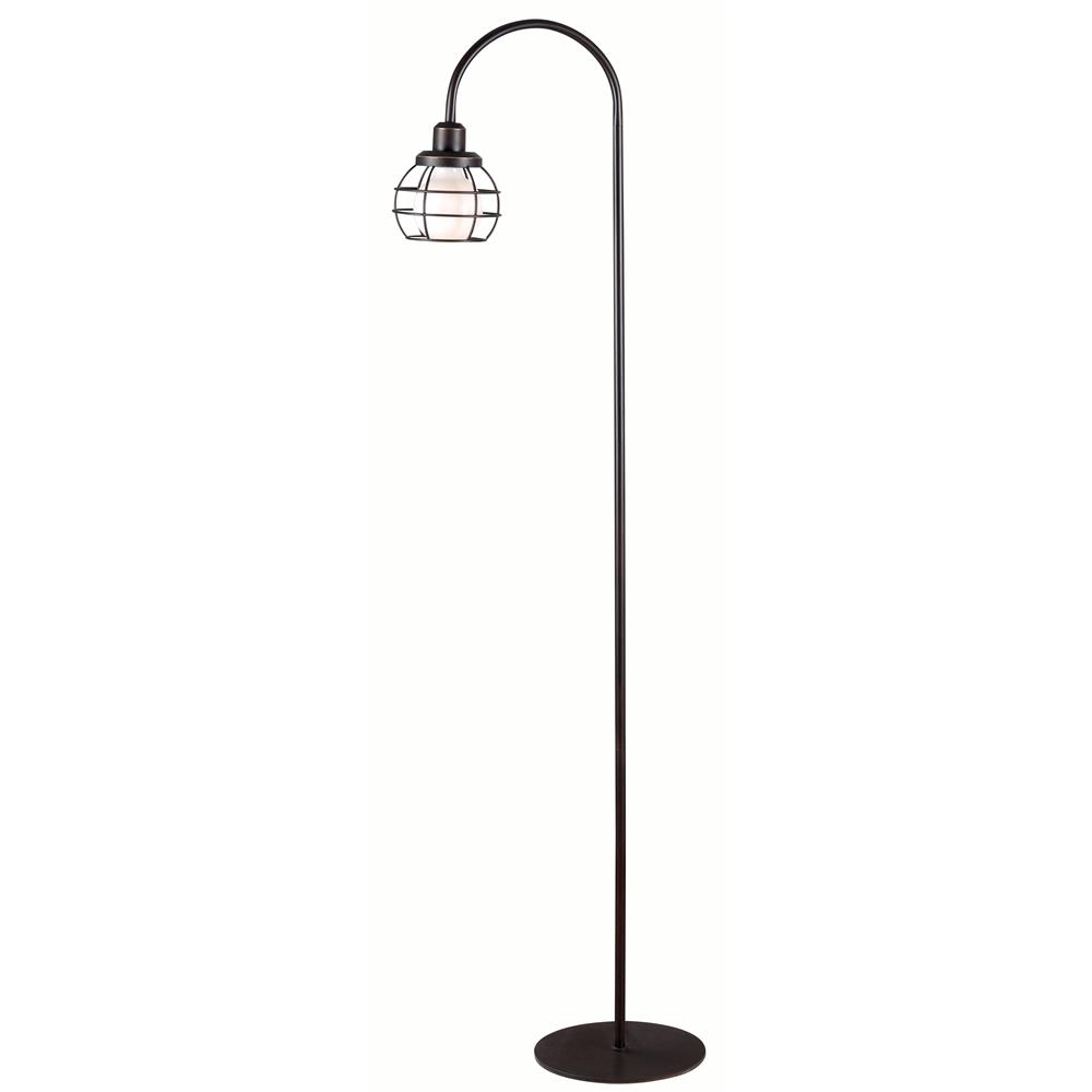 Kenroy Home 32703ORB Caged Floor Lamp in Oil Rubbed Bronze Finish