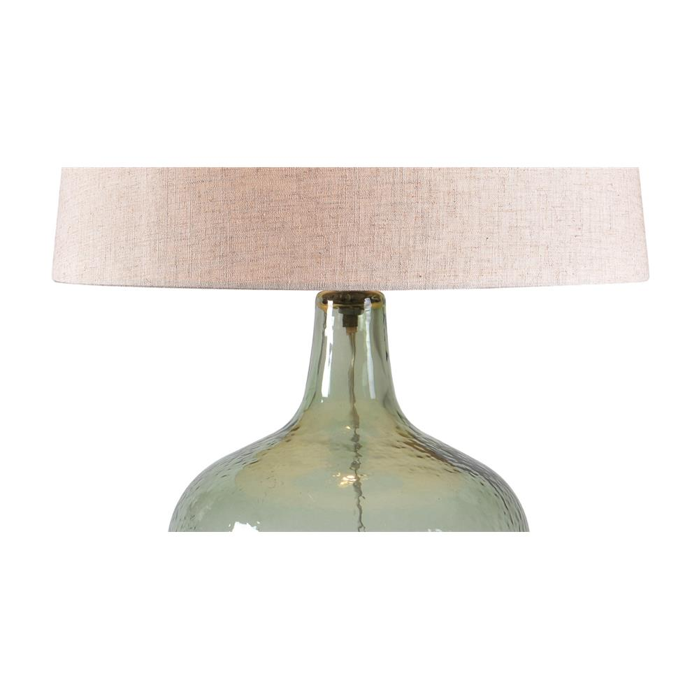 32800grn Kenroy 32800grn Kristen Table Lamp In Sea Glass Green Textured Glass Finish Goinglighting