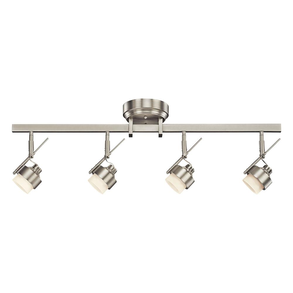 Kichler 10326NI Fixed Rail 4 Lt LED in Brushed Nickel