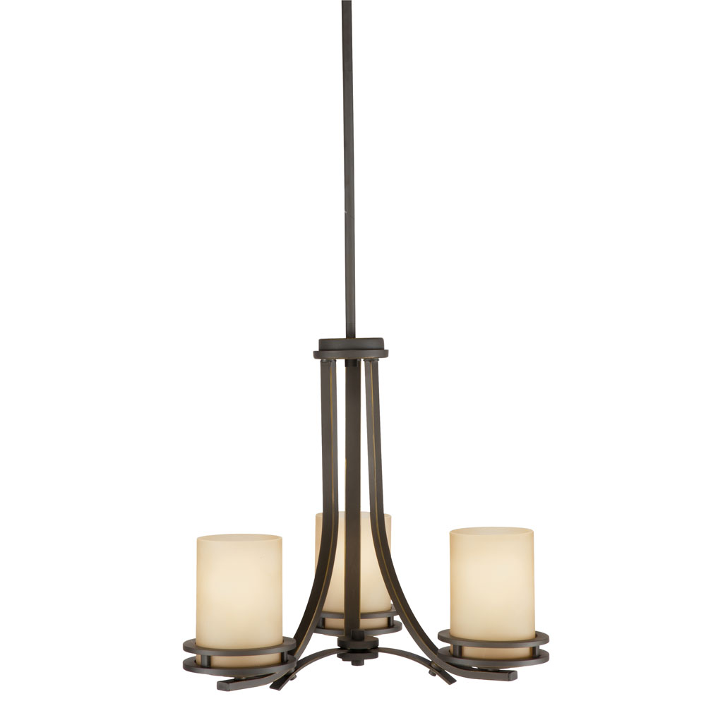 Kichler 1671OZ Chandelier 3 Lt in Olde Bronze