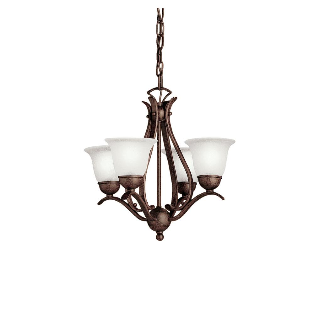 Kichler BUILDER 2019TZ Mini Chandelier 4 Lt in Tannery Bronze