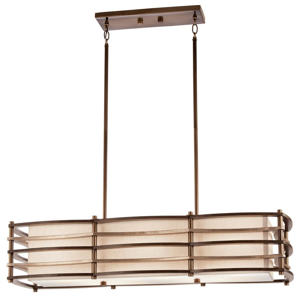 Kichler 42061CMZ Chandelier Linear 3 Lt in Cambridge Bronze