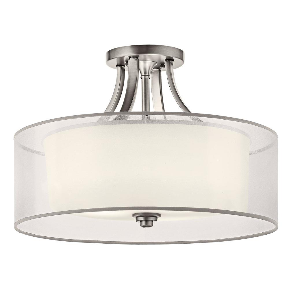 Kichler 42387AP Semi Flush 4 Lt in Antique Pewter