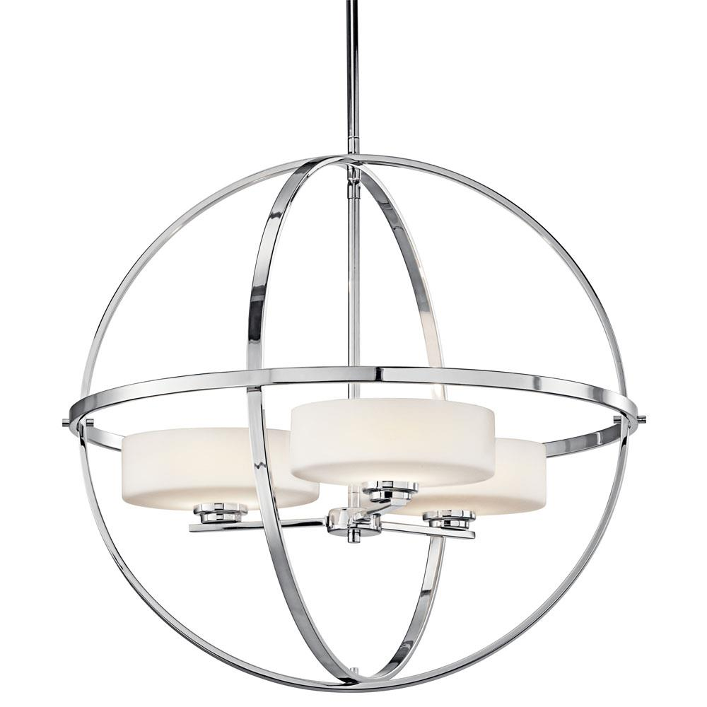 Kichler 42505CH Chandelier 3 Lt Halogen in Chrome