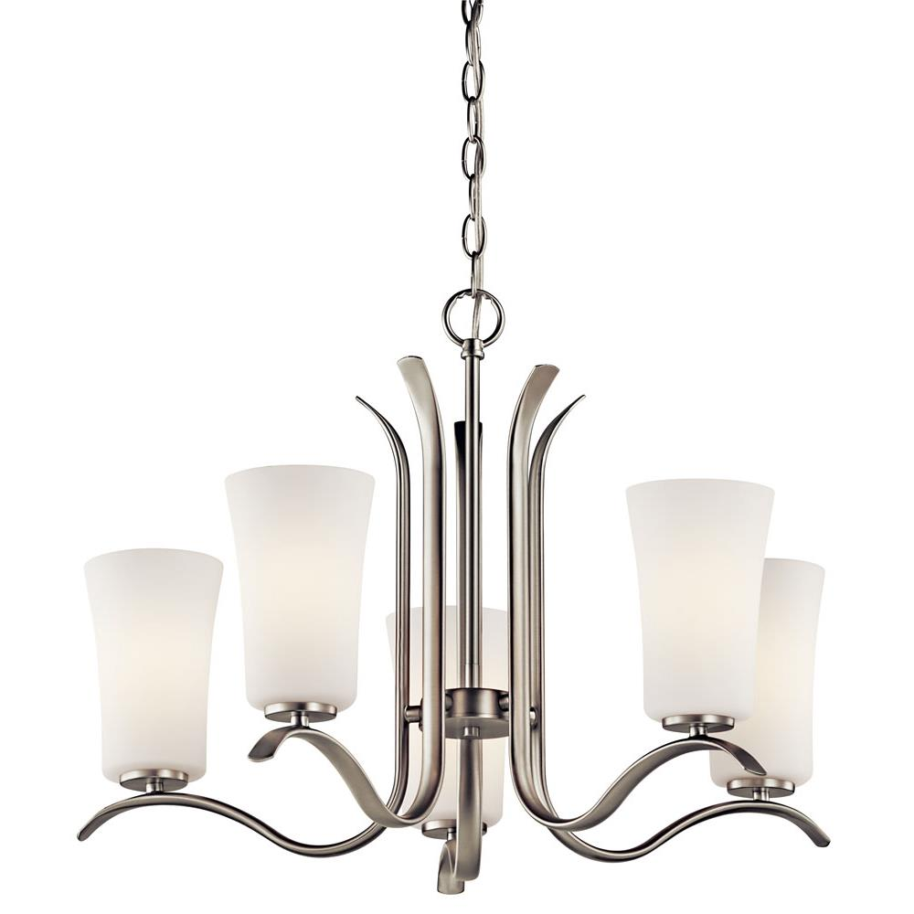 Kichler BUILDER 43074NI Chandelier 5 Lt in Brushed Nickel