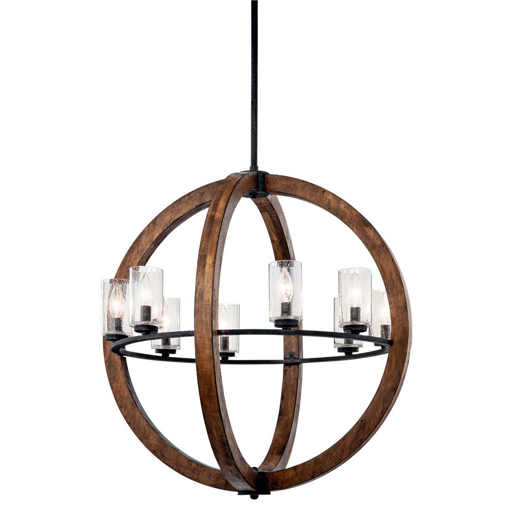 Kichler 43190AUB Chandelier/Pendant 8 Lt in Auburn Stained Finish