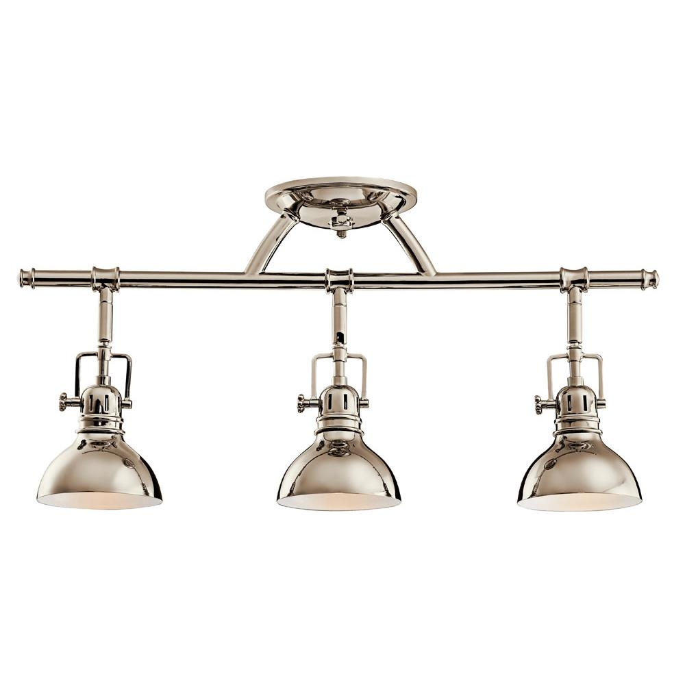 Kichler 7050PN Fixed Rail 3 Lt Halogen in Polished Nickel
