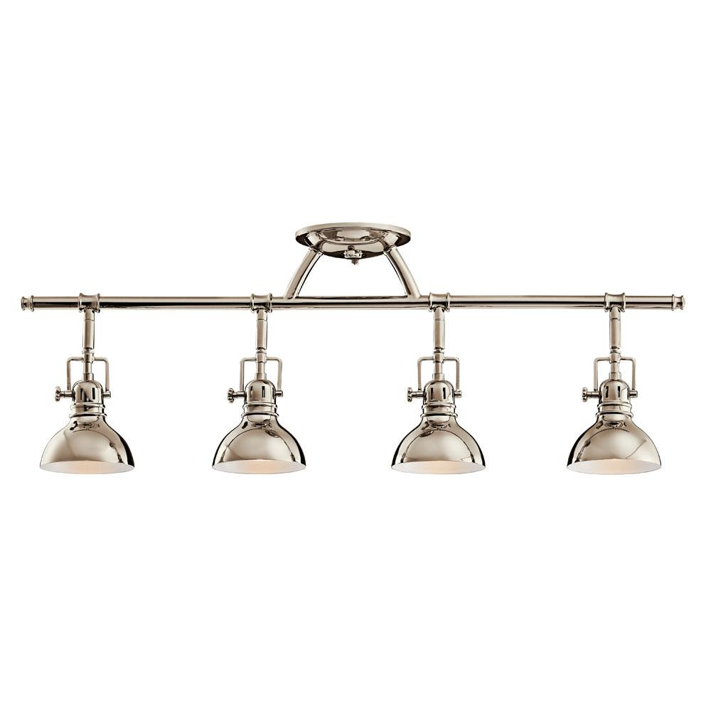 Kichler 7704PN Fixed Rail 4 Lt Halogen in Polished Nickel