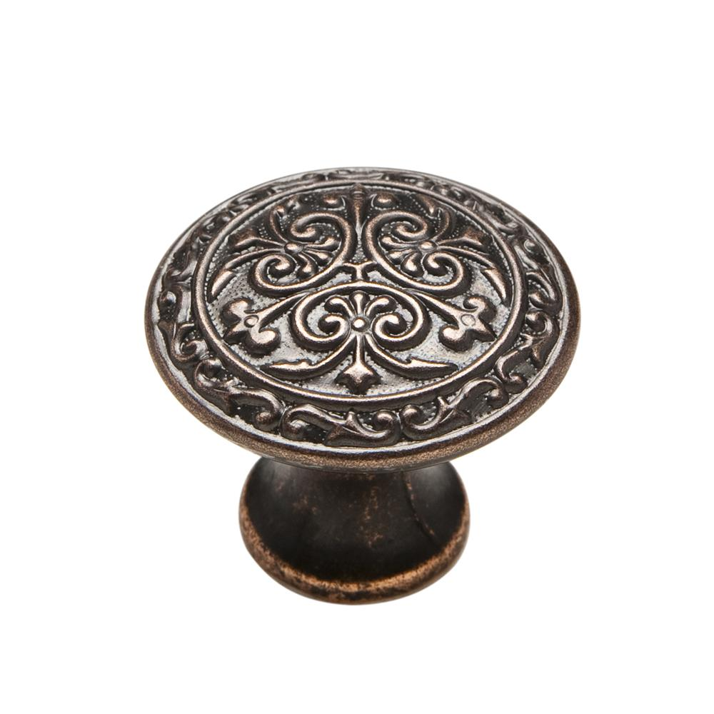"Knobware C5178-1_1-8IN-VB Vintage American Knob 1.13"" Diameter in Venetian Bronze"