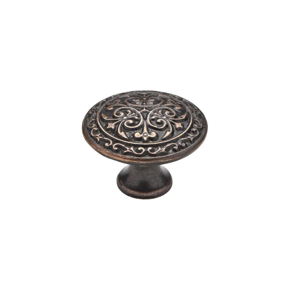 "Knobware C5178-1_3-8IN-VB Vintage American Knob 1.38"" Diameter in Venetian Bronze"
