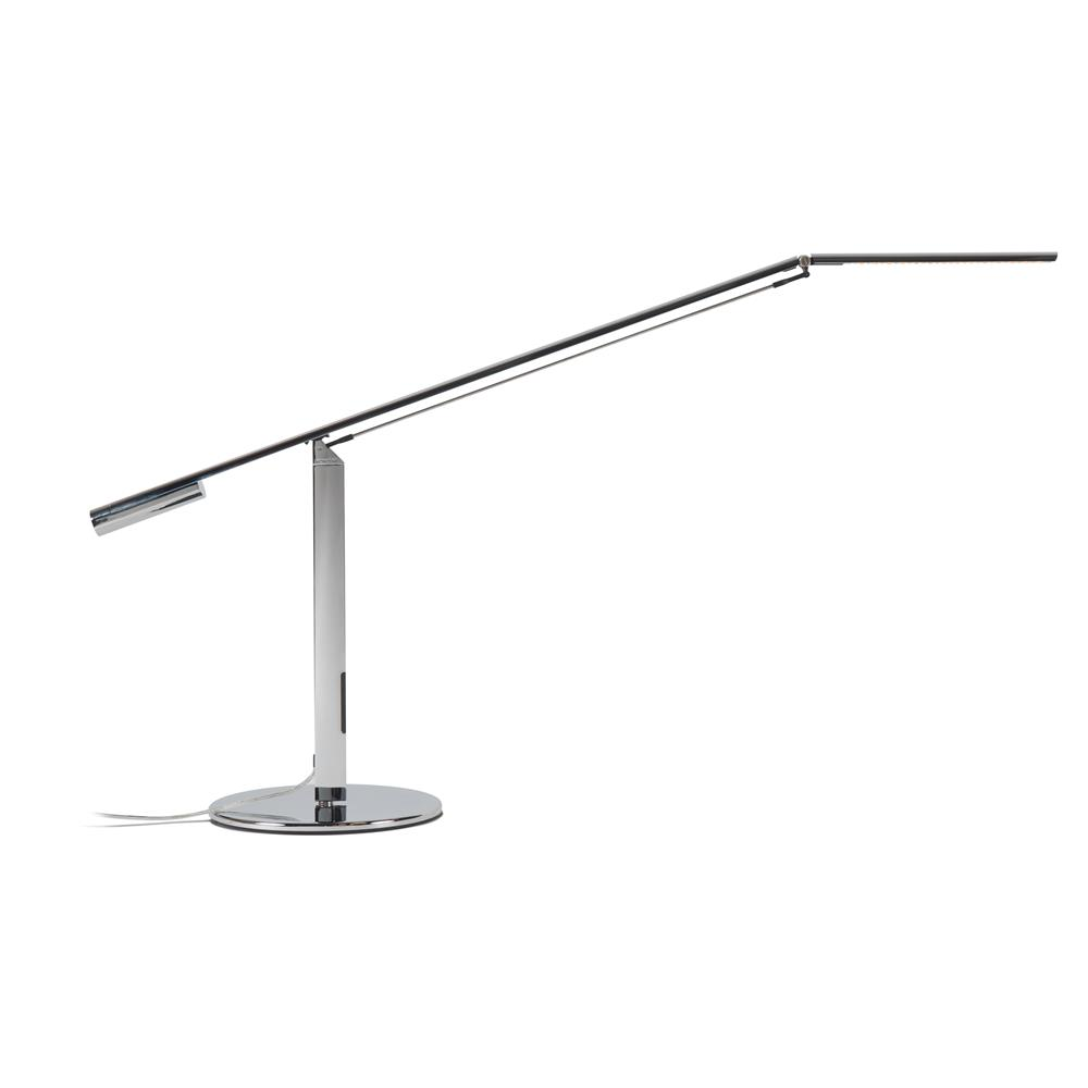 Koncept Lighting ELX-A-W-CRM-DSK Equo LED Desk Lamp (Warm Light; Chrome)