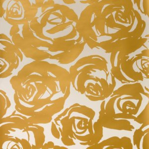 Kravet Design W3326.4 Deco Floral Wallpaper In Gold