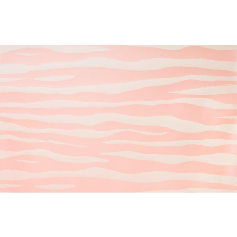 Kravet Design W3321.117 Mona Zebra Wallpaper In Soft Pink
