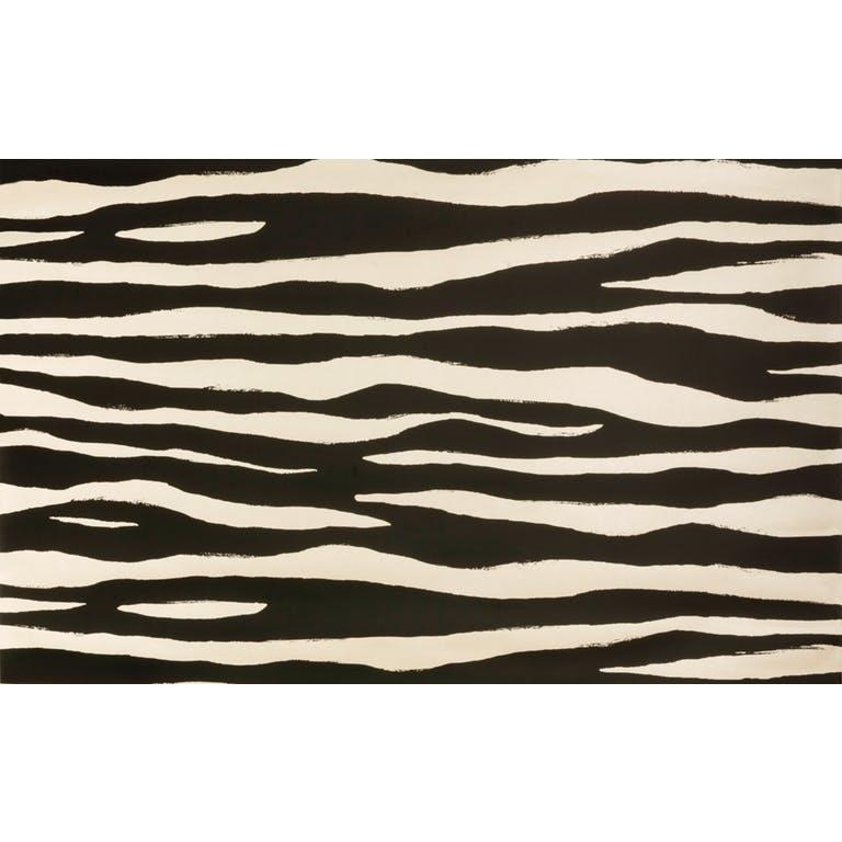 Kravet Design W3321.816 Mona Zebra Wallpaper In Night