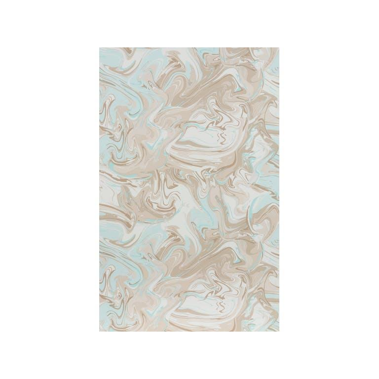 Kravet Design W3329.1615 Marble Swirl Wallpaper In Aqua