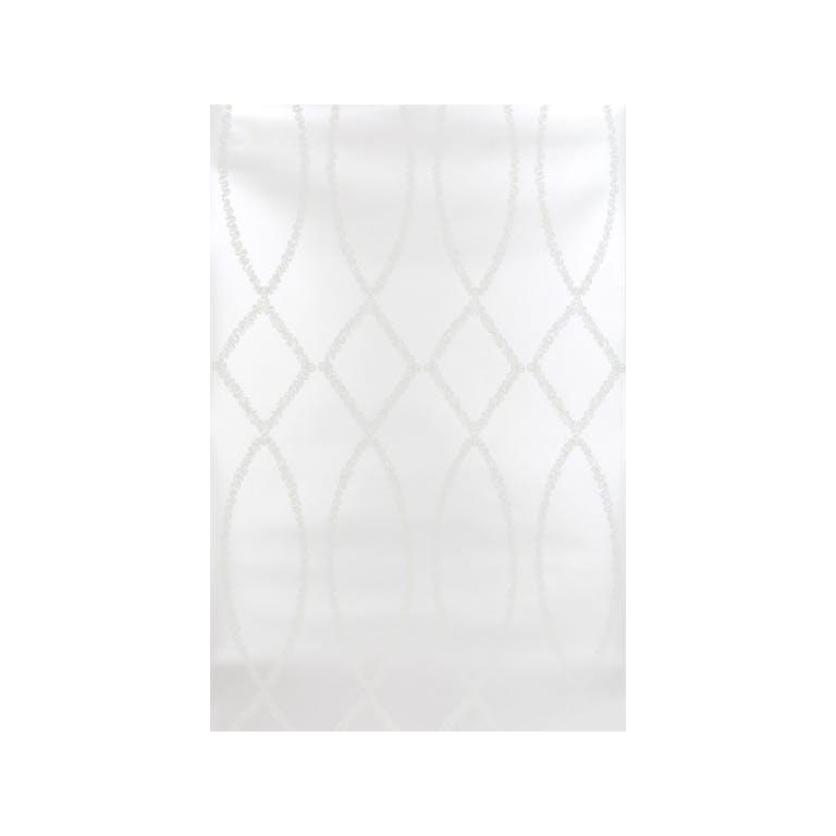 Kravet Design W3330.11 Ribbon Ogee Wallpaper In Sterling