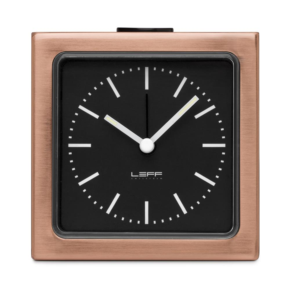 Leff Amsterdam LT90201 Sheng Bang wall/desk alarm clock block copper black index