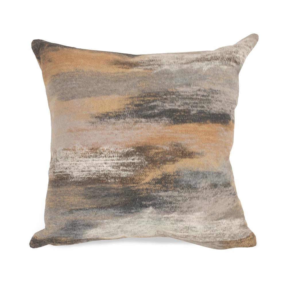 "Liora Manne 7SA1S416212 Visions I 4162/12 Vista Indoor/Outdoor Taupe 12""x20"" Pillow"