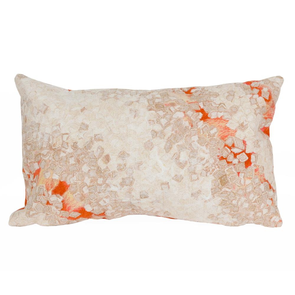 "Liora Manne 4126/24 Visions III Elements Indoor/Outdoor Pillow Orange 12""X20"""