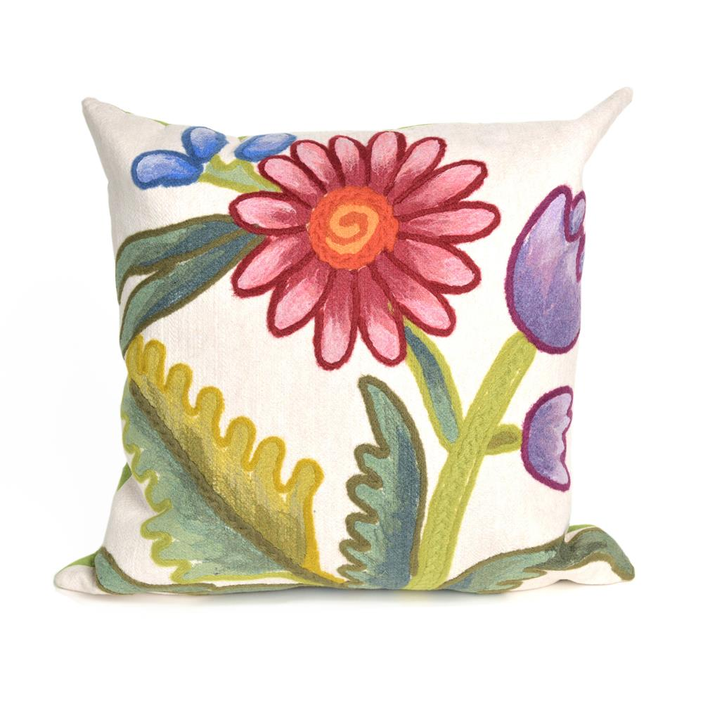 "Liora Manne 4093/44  Visions III Gypsy Flower Indoor/Outdoor Pillow Multi 12""X20"""