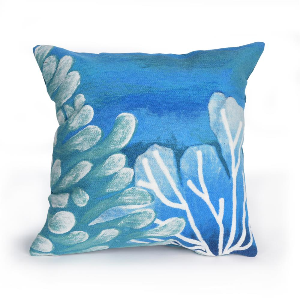 "Liora Manne 4212/03  Visions III Reef Indoor/Outdoor Pillow Blue 12""X20"""