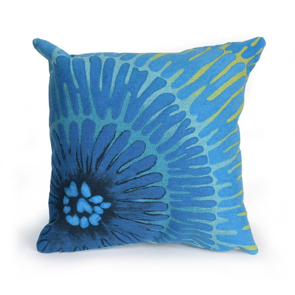 "Liora Manne 4302/04  Visions III Cirque Indoor/Outdoor Pillow Blue 12""X20"""