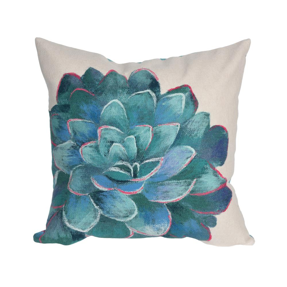 "Liora Manne 4316/12  Visions III Succulent Indoor/Outdoor Pillow Ivory 12""X20"""