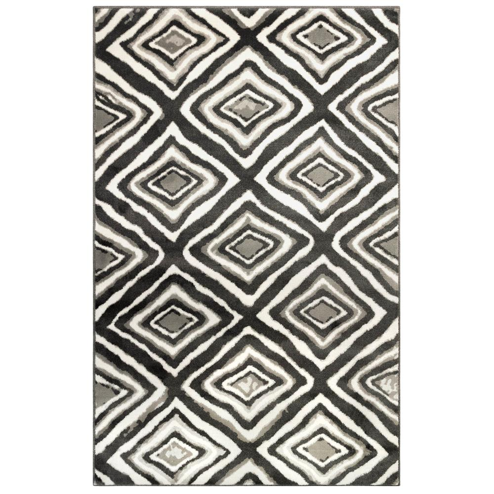 Liora Manne 2850/47 Aurora Chora Indoor Rug in Grey 3 ft. 3 in. X 4 ft. 9 in.