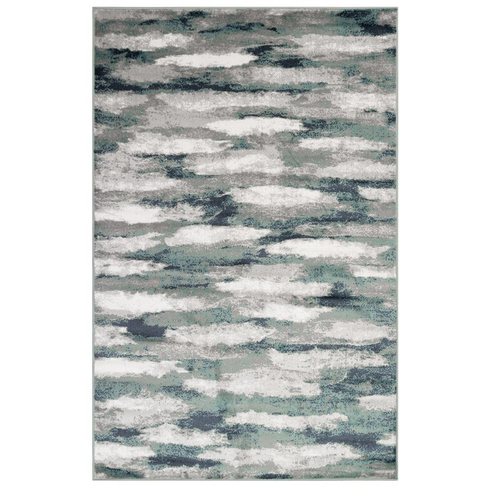 Liora Manne 2851/03 Aurora Vista Indoor Rug in Blue 3 ft. 3 in. X 4 ft. 9 in.