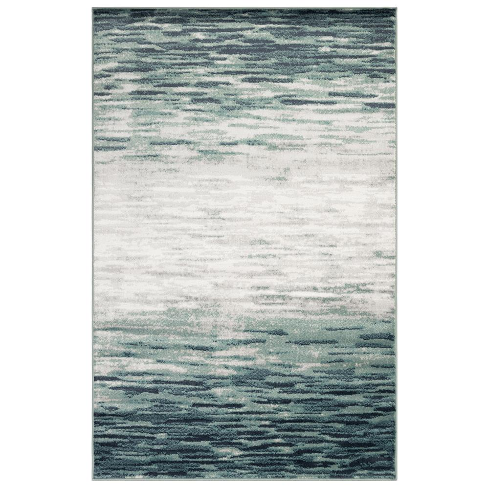 Liora Manne 2853/03 Aurora Strata Indoor Rug in Blue 3 ft. 3 in. X 4 ft. 9 in.