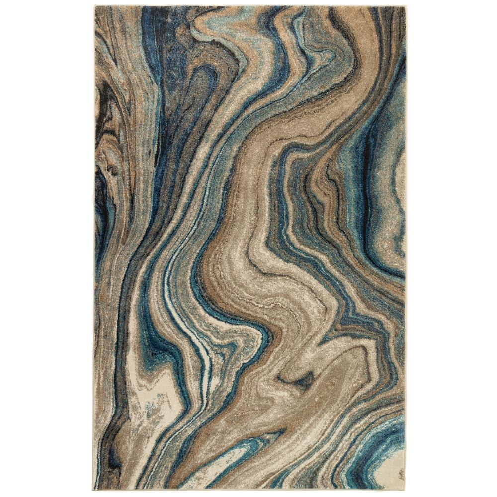 Liora Manne 8133/03 Ashford Agate Indoor Rug in Blue 3 ft. 3 in. X 4 ft. 9 in.