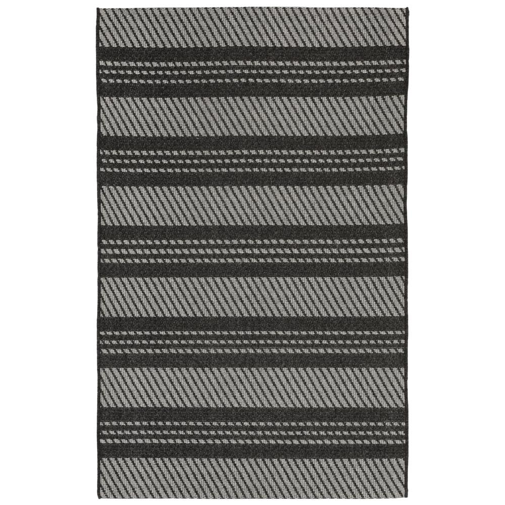 "Liora Manne BLTR8730647  Belmont Horizontal Stripe Indoor/Outdoor Rug Grey 23""X7"