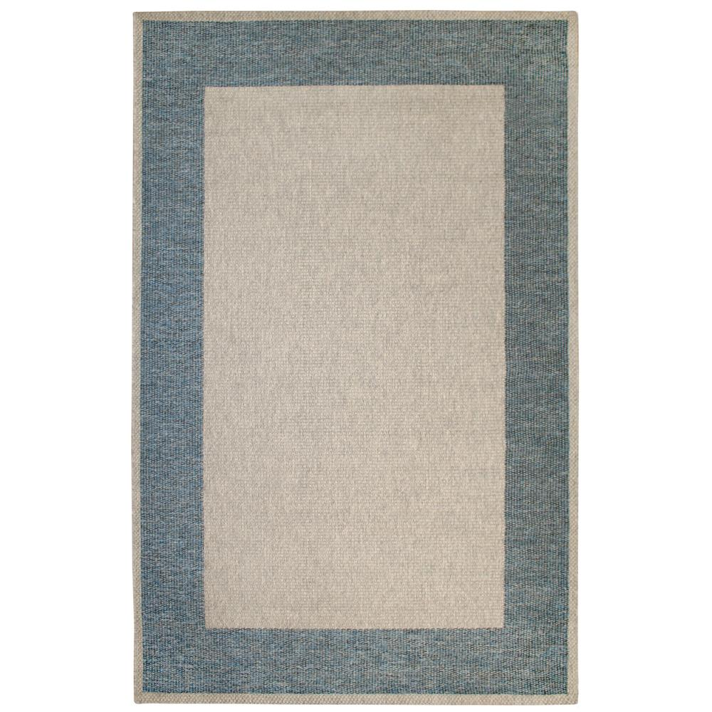 "Liora Manne BLTR8731003  Belmont Border Indoor/Outdoor Rug Blue 23""X7"