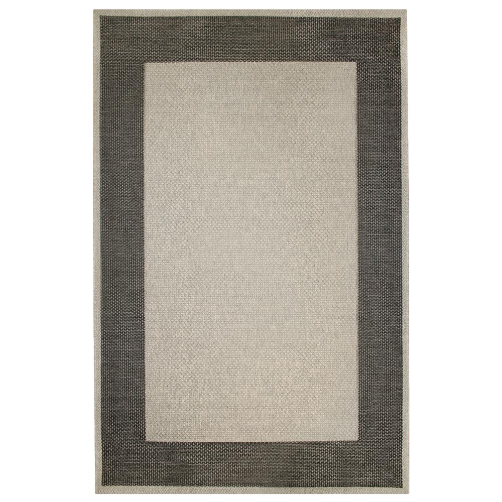 "Liora Manne BLTR8731047  Belmont Border Indoor/Outdoor Rug Grey 23""X7"