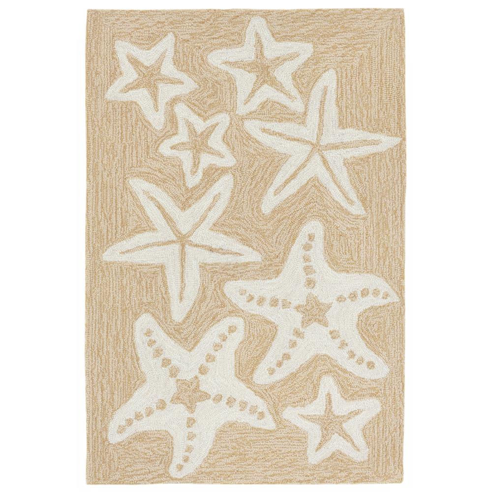 Liora Manne CAP12166712 Capri Starfish Neutral Indoor/Outdoor Rug