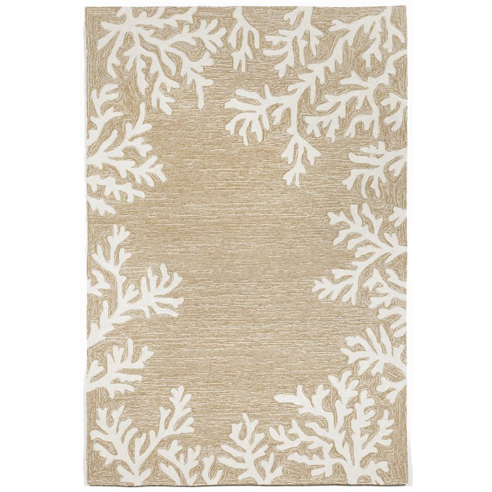 "Liora Manne 1620/12 Capri Coral Border Indoor/Outdoor Rug Natural 30""X48"""